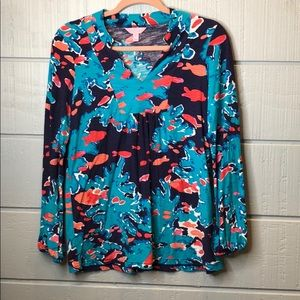 Lilly Pulitzer Tops - Lily Pulitzer reef me up goldfish joycee